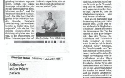 Pressebericht Kölner Stadtanzeiger: Volle Kraft voraus